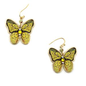 Earring 3678a 24 Wildflower butterfly earrings