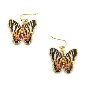 Earring 3756b 24 Wildflower butterfly earrings