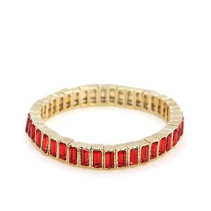 Bracelet 056a 24 Story By Davinci stretch gem bracelet gold red