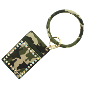 Keychain 142b 25 Tell Your Tale cardholder camo green