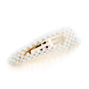 Hair Clip 254 25 Tell Your Tale bead accented hair clip ivory