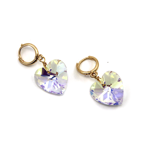 Earring 2886a 25 Tell Your Tale crystal gem heart earrings