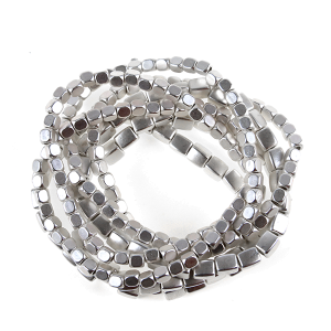 Bracelet 059 25 Tell Your Tale stone bracelet stack matte silver
