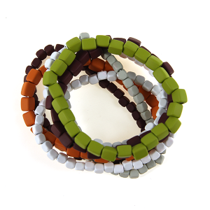Bracelet 063 25 Tell Your Tale stone bracelet stack multicolor