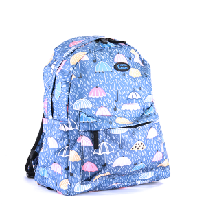 Classic backpack - Blue Umbrella Rain