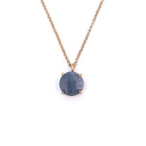 Necklace 050a 27 Garden Party gem necklace light blue