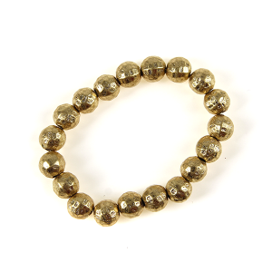 Bracelet 037 27 Garden Party bead bracelet gold