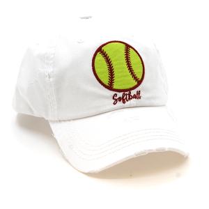 Cap 153a 30 KBEthos softball cap white