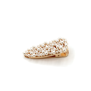 Hair clip 319A 91 Mu Guan Tear shaped hair clip with pearls