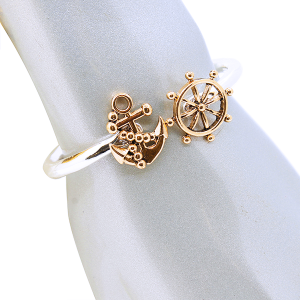 br 661a 33 Lucky You anchor sea wheel silver gold