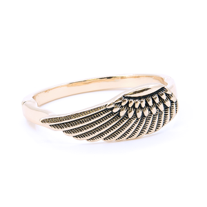 (Bracelet 740m 33 Lucky You) Feather magnetic bangle gold