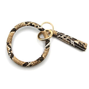 Keychain 253 34 round hoop python snake brown