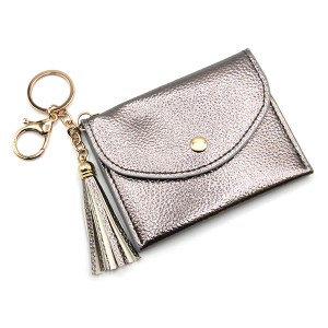 Keychain 110f 34 card holder pebbled pewter