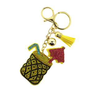 Keychain 205a 34 puffy cocktail yellow