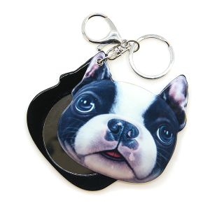 Keychain 018e 34 FJ sliding mirror dog puppy keychain