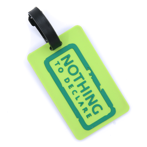 (Luggage Tag 008a 34) Nothing To Declare green