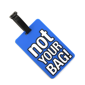 Luggage Tag 050c 34 Not Your Bag blue
