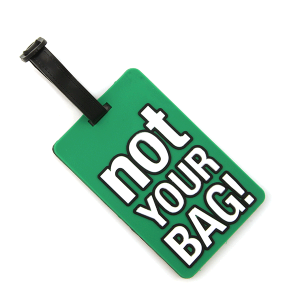 Luggage Tag 052a 34 Not Your Bag green