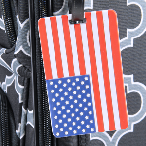 luggage tag 033 34 American USA Flag