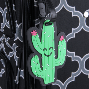 luggage tag 034a 34 Smiling cactus