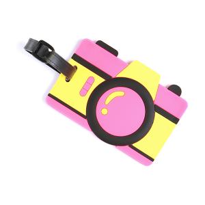 (Luggage tag 051) Camera tag pink yellow