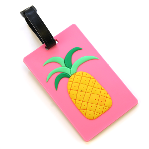 Luggage Tag 068 Pineapple Pink
