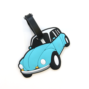 Luggage Tag 026a 34 blue car