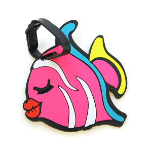 Luggage Tag 065 Pink Fish