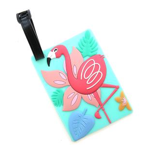 Luggage Tag 032a 34 tropical flamingo
