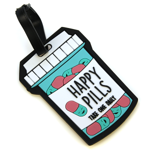 Luggage Tag 063 Happy Pills