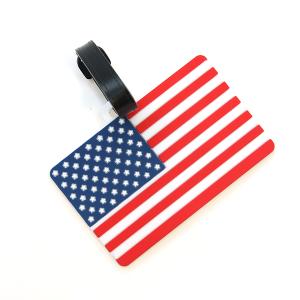 Luggage Tag 014 34 usa american flag