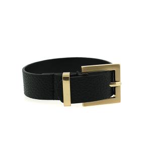Bracelet 699g 70 buckle pebbled leather black