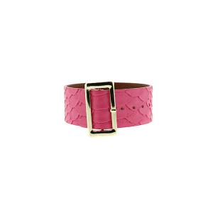 Bracelet 604e 70 buckle python snake pink