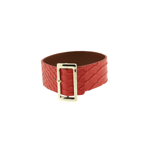 Bracelet 258e 70 buckle python snake red