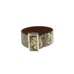 Bracelet 068f 70 buckle python snake brown