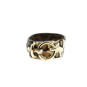 Bracelet 894 70 cuff wrap leopard brown