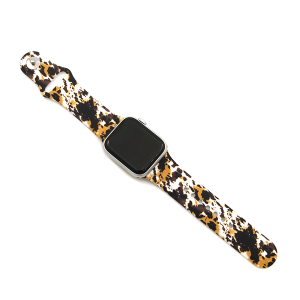 Watch  Band 167c 08 38mm 40mm abstract print brown