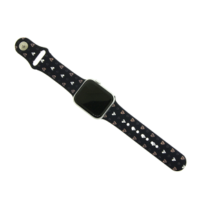 Watch Band 046b 08 assorted heart print navy 38mm 40mm