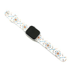 Watch Band 163b 08 38mm 40mm geometric arrows white