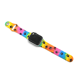 Watch Band 035i 08 38mm 40mm tie dye paws multi