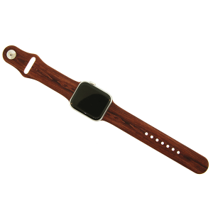 Watch Band 090c 08 wood grain print brown 38mm 40mm