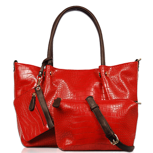 Vieta 3S1651 3in1 fashion croc tote red
