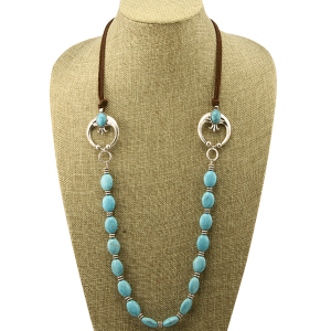 Necklace 1536b 40 Icon Collection navajo western stone turquoise
