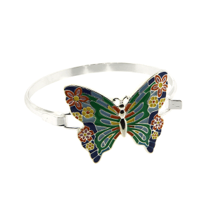 Bracelet 715 40 Icon Collection floral butterfly hinge