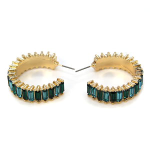 Earring 295e 40 Icon Collection c jewel earrings gold turquoise green