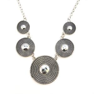 Necklace 530c 40 Icon Collection collar circle necklace silver