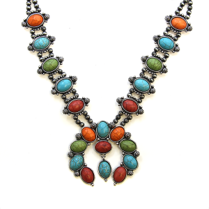 Necklace 727c 40 Icon Collection navajo stone necklace multicolor
