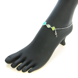 Anklet 007 40 Icon Collection seahorse anklet green