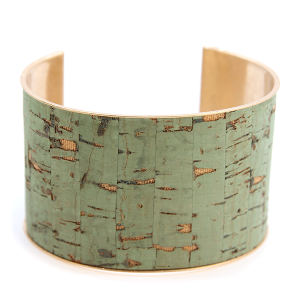 Bracelet 075e 40 Icon Collection distressed large cuff green