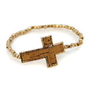 Bracelet 277 40 Icon Collection cross bracelet gold brown